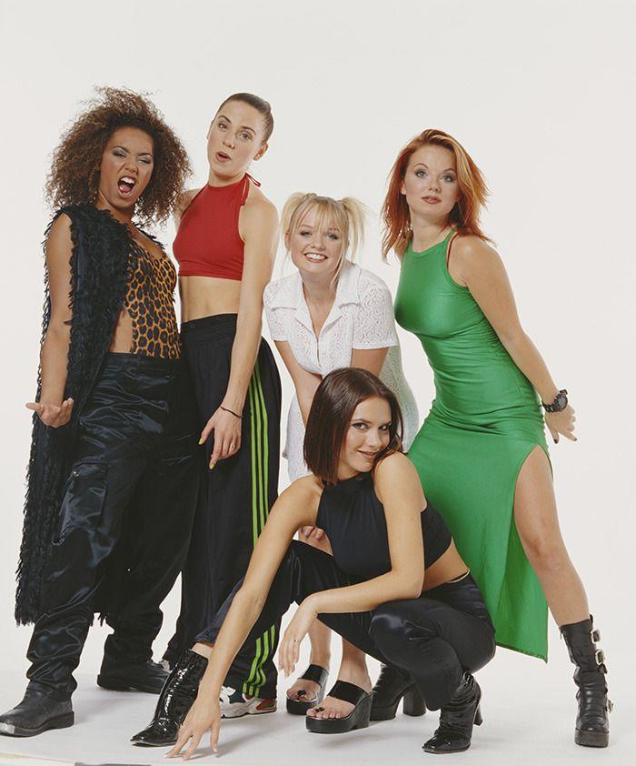 Scary, Sporty, Baby, Ginger and Posh Spice in 1996. Photo: Getty Images