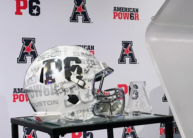 The AAC is trying to brand itself as a peer to the most powerful leagues in college football in the hopes for creating a Power Six. (AP Photo/Ralph D. Russo)