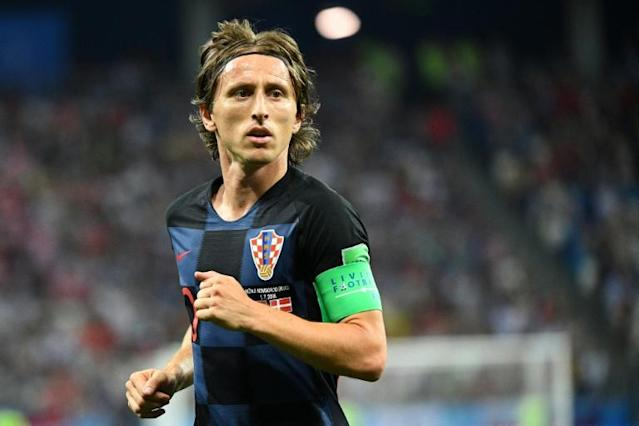 Croatia's midfielder Luka Modric, seen in action during their Russia 2018 World Cup round of 16 match against Denmark, in Nizhny Novgorod, on July 1