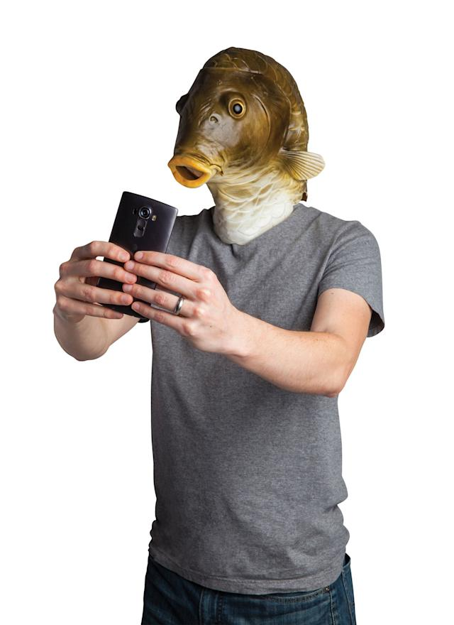 You could spend months trying to create an elaborate costume that wouldn't be nearly as creepy as <span>this fish mask.</span> My eyes! My eyes!