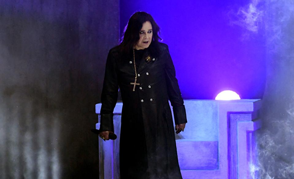 Ozzy Osbourne performs onstage during the 2019 American Music Awards at Microsoft Theater on November 24, 2019 in Los Angeles, California