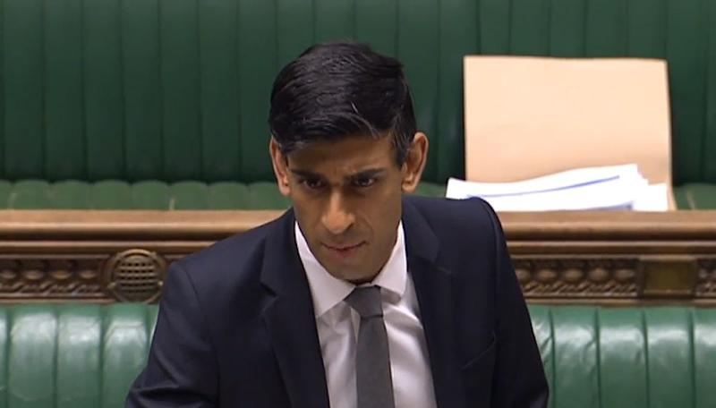 Chancellor Rishi Sunak speaking in the House of Commons in Westminster, London. (Photo by House of Commons/PA Images via Getty Images)