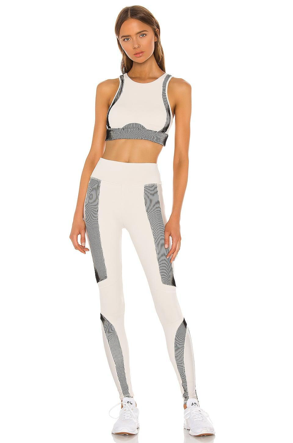 <p>The pattern on this <span>Alo Electric Sports Bra</span> ($72) and <span>Legging</span> ($152) is so cool.</p>