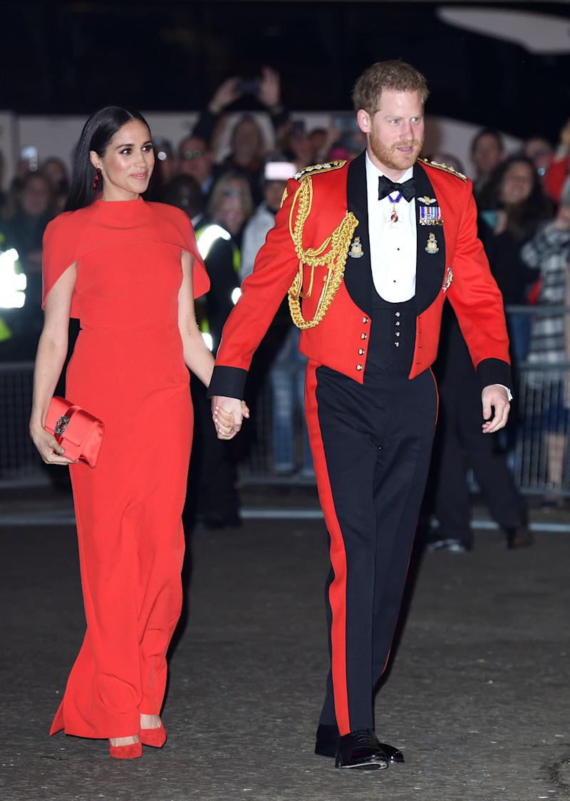 Meghan and Harry attend the Mountbatten Festival of Music at Royal Albert Hall on March 7, in London. (Photo: Karwai Tang via Getty Images)