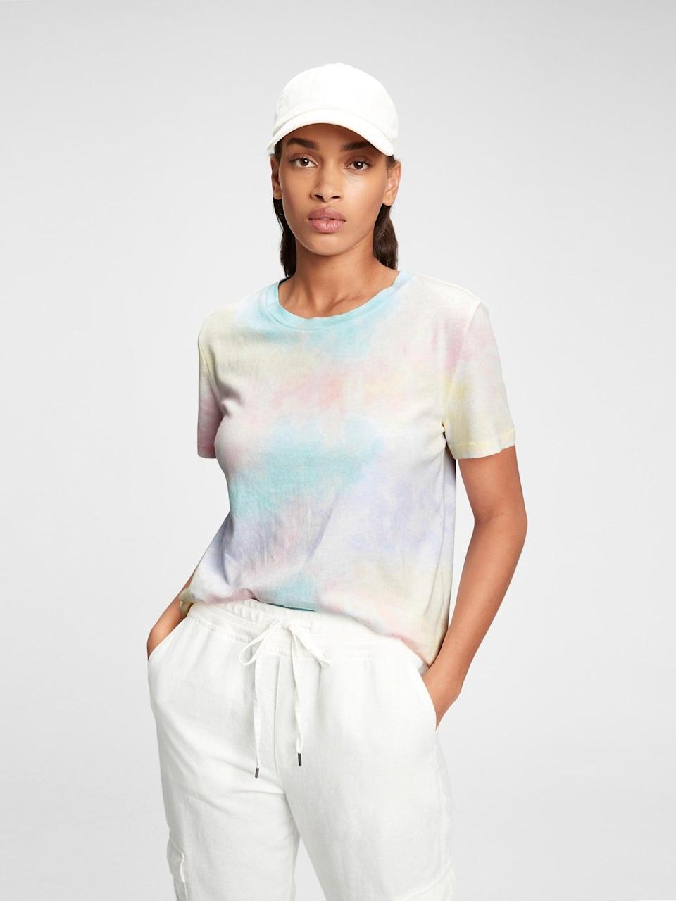<p>This <span>Gap Organic Vintage Tie-Dye T-Shirt</span> ($19, originally $25) is perfectly worn in. Style it with your favorite pair of jeans and white sneakers.</p>