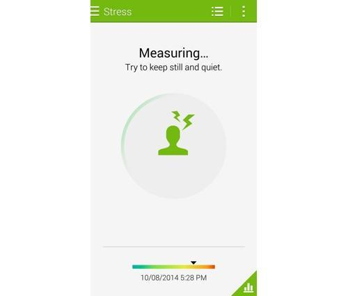 Stress measurement on a Galaxy Note 4 smartphone