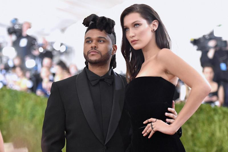 The Weeknd and Bella Hadid at the Met Gala (Getty Images)