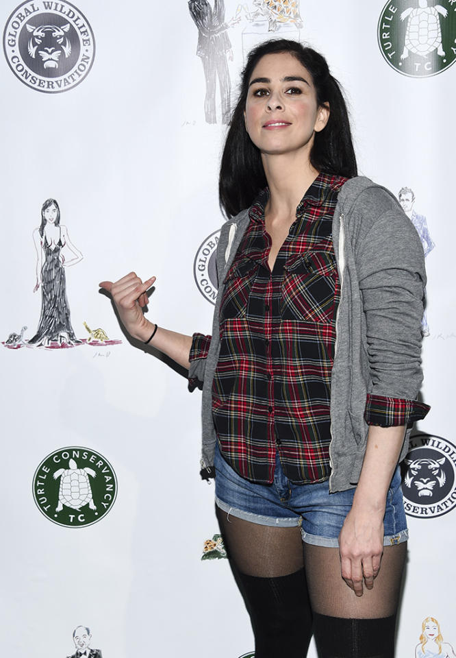<p>Comedian Sarah Silverman attends the Turtle Ball at the Bowery Hotel on Monday, April 17, 2017, in New York. (Photo: Evan Agostini/Invision/AP) </p>