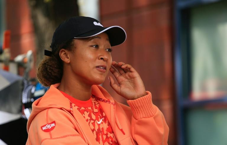 Japan's Naomi Osaka speaks during a interview ahead of the 2021 US Open (AFP/Kena Betancur)