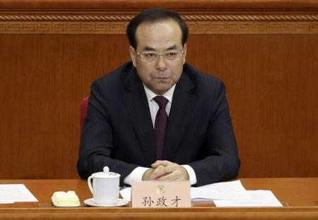File photo: Chongqing Municipality Communist Party Secretary Sun Zhengcai attends the opening session of the CPPCC in Beijing