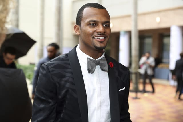 Deshaun Watson is among the quarterbacks in line for a new contract (Jeff Lewis/AP)