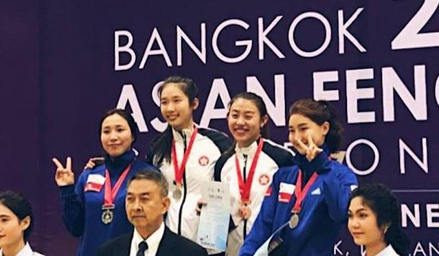 Vivian Kong is Hong Kong's first female to win an Asian Fencing Championships gold medal