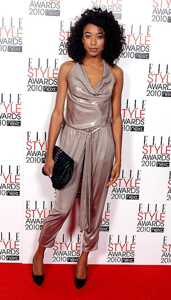 """Her songs may be mellow, but Corinne Bailey-Rae looked fierce in a shimmery Diane von Furstenberg jumpsuit. Mike Marsland/<a href=""""http://www.wireimage.com"""" target=""""new"""">WireImage.com</a> - February 22, 2010"""