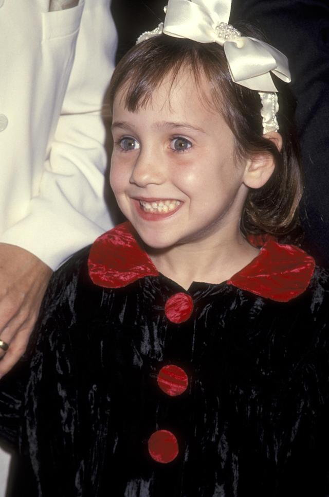 Mara Wilson attends the 'Mrs. Doubtfire' Beverly Hills Premiere on November 22, 1993. (Ron Galella, Ltd. via Getty Images)