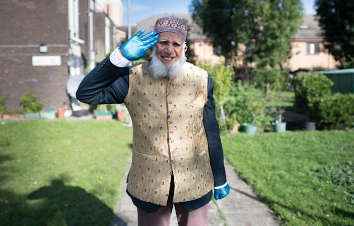 """100-year-old Dabirul Islam Choudhury raised more than £420,000 by walking 970 laps of his garden in Bow, east London, while fasting for Ramadan. Mr Choudhury said: """"I feel proud they have honoured me for the efforts I have done.  Choudhury, who was awarded an OBE, said: """"I thank everybody from the bottom of my heart."""""""