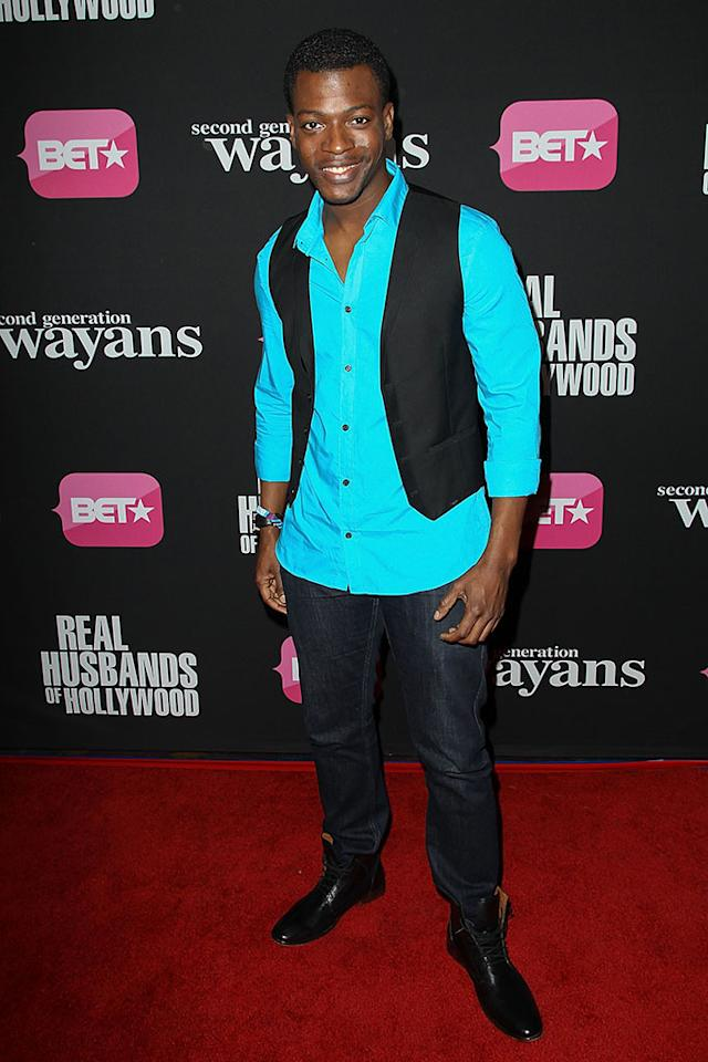 "Cedric Sanders arrives at the screenings of BET Networks' ""Real Husbands of Hollywood"" and ""Second Generation Wayans"" held at the Regal Cinemas L.A. Live on January 8, 2013 in Los Angeles, California."