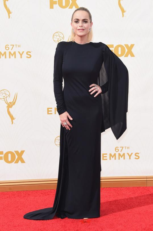 <p>Taryn Manning wore a dress that seemed like it was more fit for Elvira or a high school senior going through her goth phase. </p>