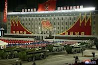 A military parade celebrating the 8th Congress of the Workers' Party of Korea (WPK) in Pyongyang