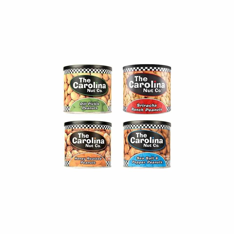 """<p>For a high-protein snack that will keep you satisfied on the go, pack peanuts, says Siegel. The Carolina Nut Co. has a variety of flavors in unique and interesting flavors like dill pickle and Sriracha ranch. </p><p><a class=""""link rapid-noclick-resp"""" href=""""https://www.amazon.com/PIZOOTZ-Habanero-Infused-Peanuts-Virginia/dp/B0762P2S4C?tag=syn-yahoo-20&ascsubtag=%5Bartid%7C10072.g.27072697%5Bsrc%7Cyahoo-us"""" rel=""""nofollow noopener"""" target=""""_blank"""" data-ylk=""""slk:SHOP NOW"""">SHOP NOW</a></p>"""