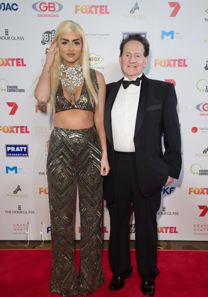 Gabi was previously married to Geoffrey Edelsten. They are pictured here together in 2015. Source: Getty