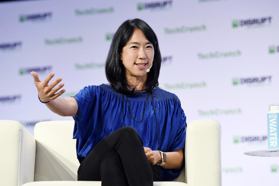 SAN FRANCISCO, CALIFORNIA - OCTOBER 04: Floodgate Co-Founder & Partner Ann Miura-Ko speaks onstage during TechCrunch Disrupt San Francisco 2019 at Moscone Convention Center on October 04, 2019 in San Francisco, California. (Photo by Steve Jennings/Getty Images for TechCrunch)