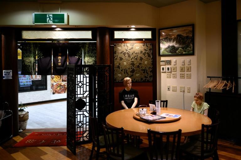 The lifelike models have startled some of the regular customers at the Tokyo restaurant (AFP Photo/Philip FONG)