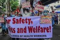 The pandemic has exacerbated a pre-existing lack of nurses in the Philippines (AFP/Maria TAN)