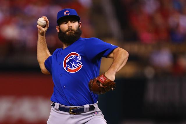"<a class=""link rapid-noclick-resp"" href=""/mlb/players/8623/"" data-ylk=""slk:Jake Arrieta"">Jake Arrieta</a> has reportedly agreed to terms on a three-year, $75 million deal with the Phillies. (Getty Images)"
