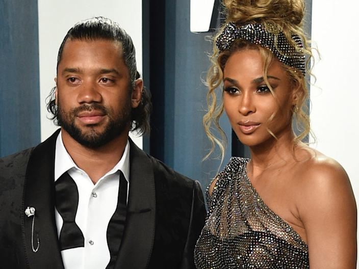 Russell Wilson and Ciara in February 2020.
