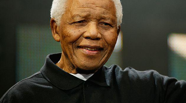 Nelson Mandela onstage during the 46664 Concert In Celebration Of Nelson Mandela's Life held at Hyde Park on June 27, 2008 in London, England. Photo: Getty Images