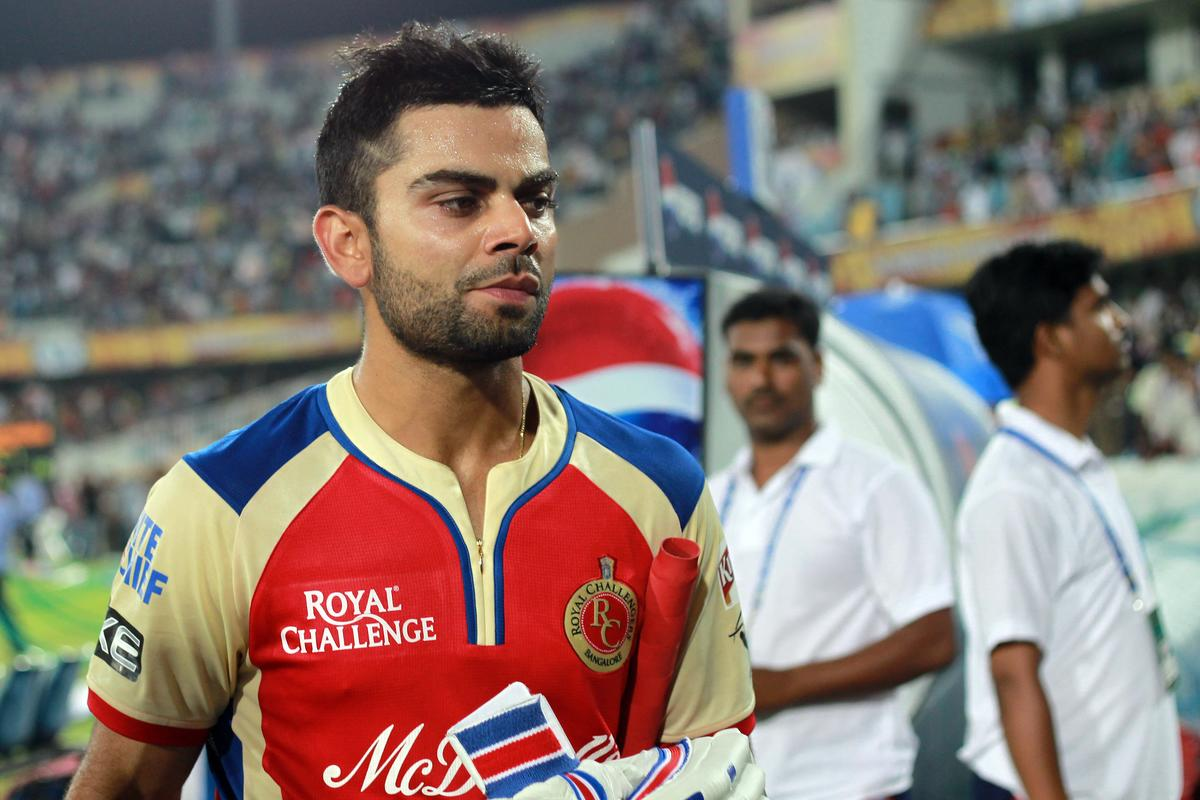A disappointed Virat Kohli walks off the field after match 7 of the Pepsi Indian Premier League between The Sunrisers Hyderabad and Royal Challengers Bangalore held at the Rajiv Gandhi International Stadium, Hyderabad on the 7th April 2013. Photo by Jacques Rossouw - SPORTZPICS - IPL  ..Use of this image is subject to the terms and conditions as outlined by the BCCI. These terms can be found by following this link:..https://ec.yimg.com/ec?url=http%3a%2f%2fwww.sportzpics.co.za%2fimage%2fI0000SoRagM2cIEc&t=1506333567&sig=M4vltBvS6W_3XCNei_j2XQ--~D