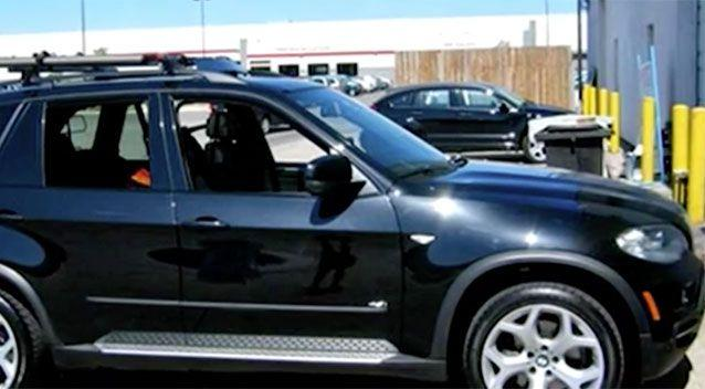 Police are urging anyone who sees a car similar to this one with extensive damage to call them. Source: 7 News