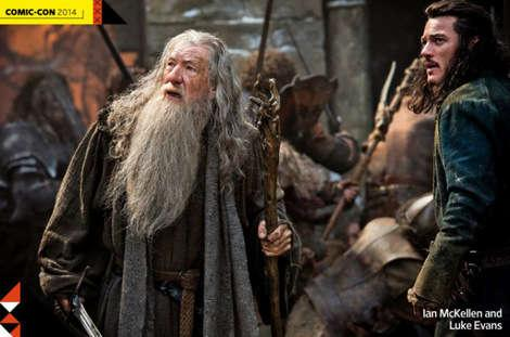 First look at Gandalf and Bard the Bowman in The Hobbit: Battle of Five Armies