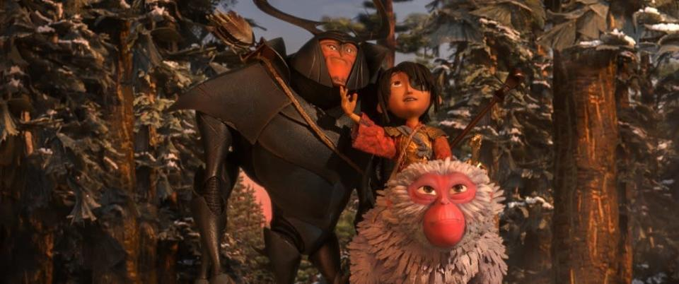 "Monkey, Kubo, and Beetle (Matthew McConaughey) in ""Kubo and the Two Strings."" (United International Pictures)"