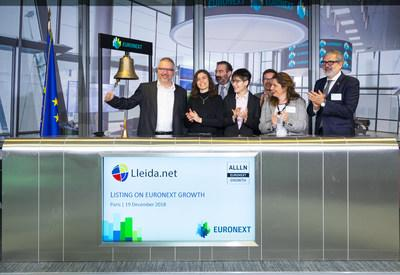 Lleida.net is listed in both the Madrid and Paris Stock Exchanges