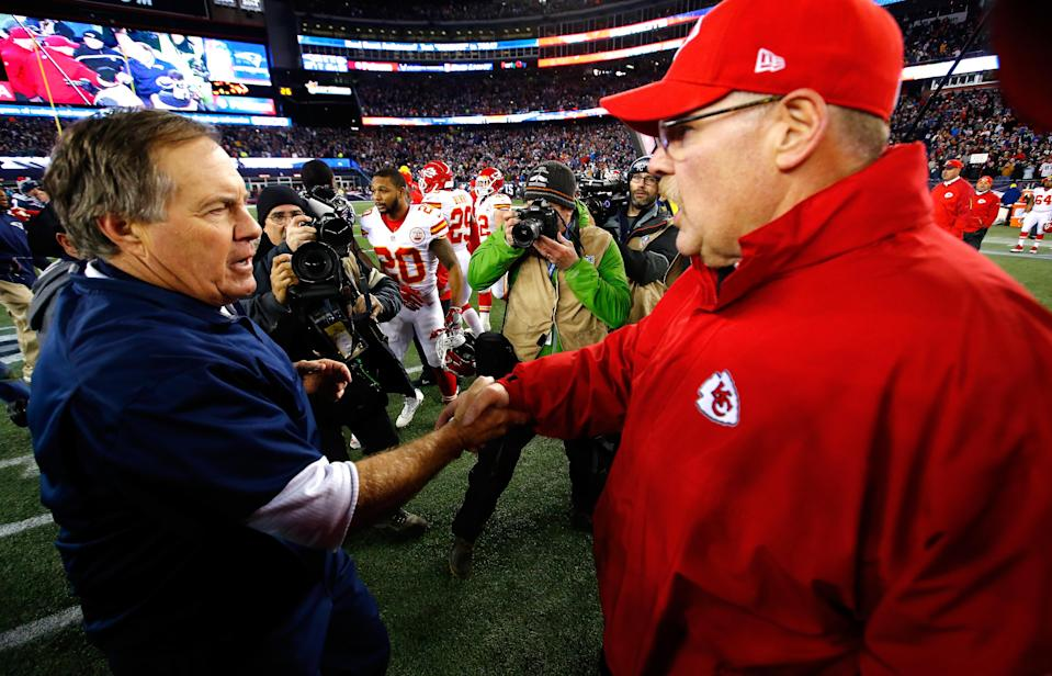 Bill Belichick and Andy Reid have impressive coaching trees, but whose is the best? (Getty)