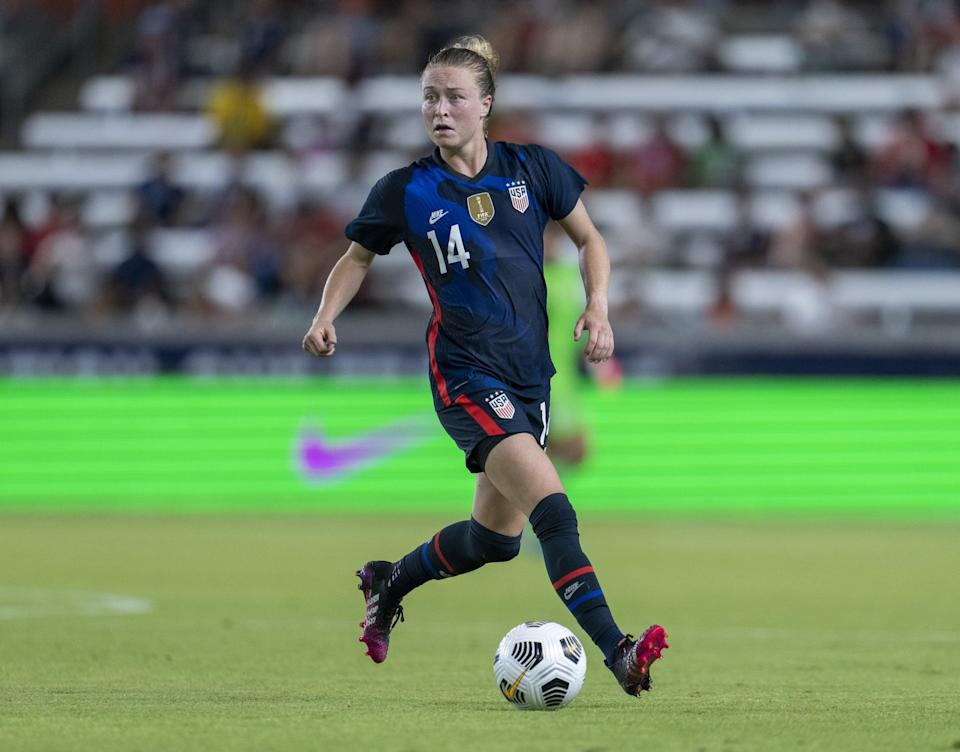 <p><strong>Position:</strong> defender</p> <p><strong>Hometown:</strong> Marietta, GA</p> <p><strong>Club:</strong> Washington Spirit</p> <p>Sonnett's first World Cup appearance was in 2019, when the USWNT clinched the championship. This will be her first time playing at the Olympics.</p>