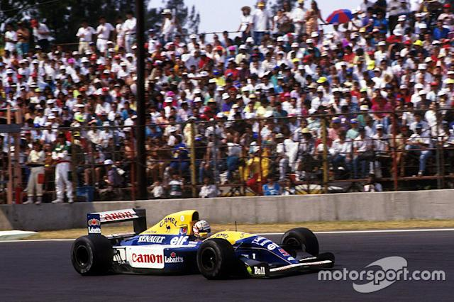 """Nigel Mansell, Williams <span class=""""copyright"""">Sutton Motorsport Images</span>"""