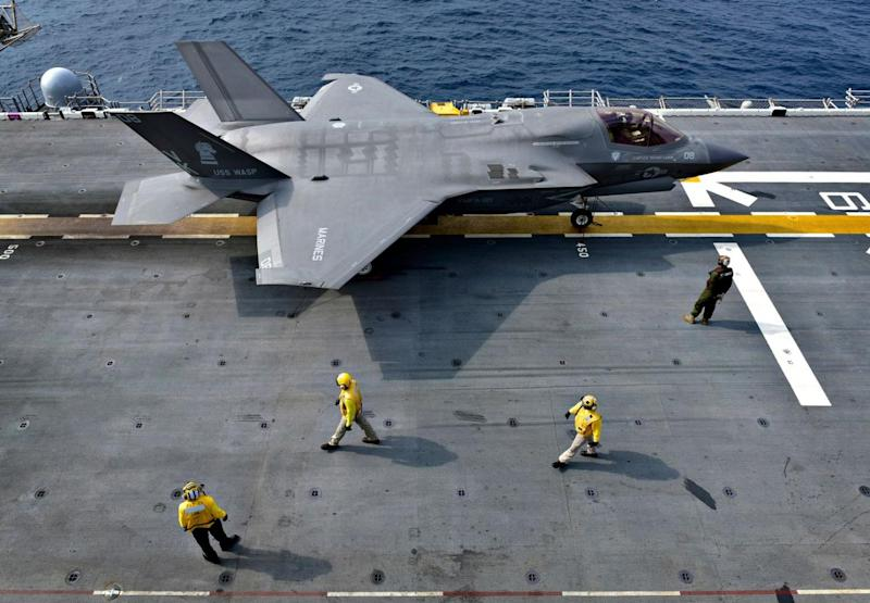 By Official U.S. Navy Page from United States of AmericaMC1 Daniel Barker/U.S. Navy - An F-35B Lightning II aircraft is secured aboard USS Wasp (LHD 1)., Public Domain, https://commons.wikimedia.org/w/index.php?curid=77578221