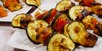 """<p>Perfect for <a href=""""https://www.delish.com/uk/cooking/recipes/g29890255/vegetarian-recipes/"""" rel=""""nofollow noopener"""" target=""""_blank"""" data-ylk=""""slk:vegetarians"""" class=""""link rapid-noclick-resp"""">vegetarians</a> and meat-eaters alike, these <a href=""""https://www.delish.com/uk/cooking/recipes/g33021017/halloumi/"""" rel=""""nofollow noopener"""" target=""""_blank"""" data-ylk=""""slk:halloumi"""" class=""""link rapid-noclick-resp"""">halloumi</a> skewers are packed with delicious flavour! We're partial to cooking these on the barbecue, but you can make them in the oven too. </p><p>Get the <a href=""""https://www.delish.com/uk/cooking/recipes/a36420265/halloumi-kebabs/"""" rel=""""nofollow noopener"""" target=""""_blank"""" data-ylk=""""slk:Halloumi Kebabs"""" class=""""link rapid-noclick-resp"""">Halloumi Kebabs</a> recipe.</p>"""