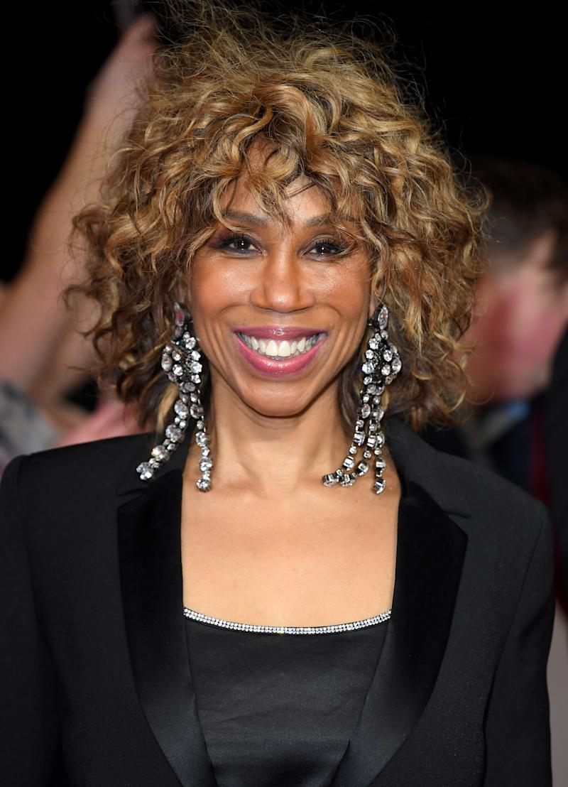 Trisha Goddard attends the National Television Awards 2020 at The O2 Arena on January 28, 2020 in London, England. (Photo by Karwai Tang/WireImage)