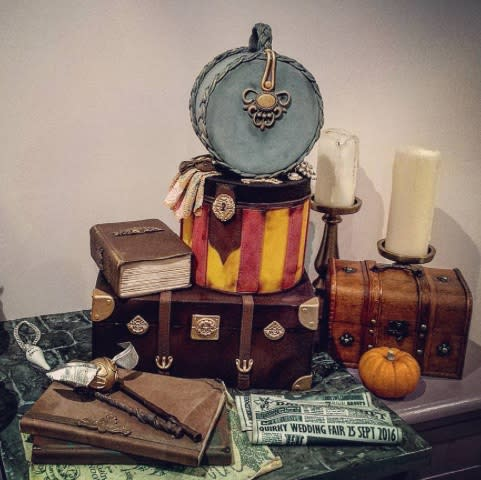These Harry Potter wedding cakes are going to make you want to say