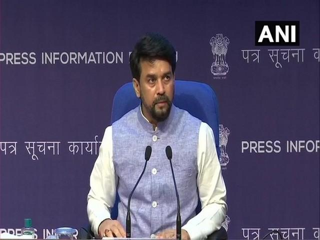 Union Minister Anurag Thakur briefing the media about Cabinet decisions (Photo/ANI)