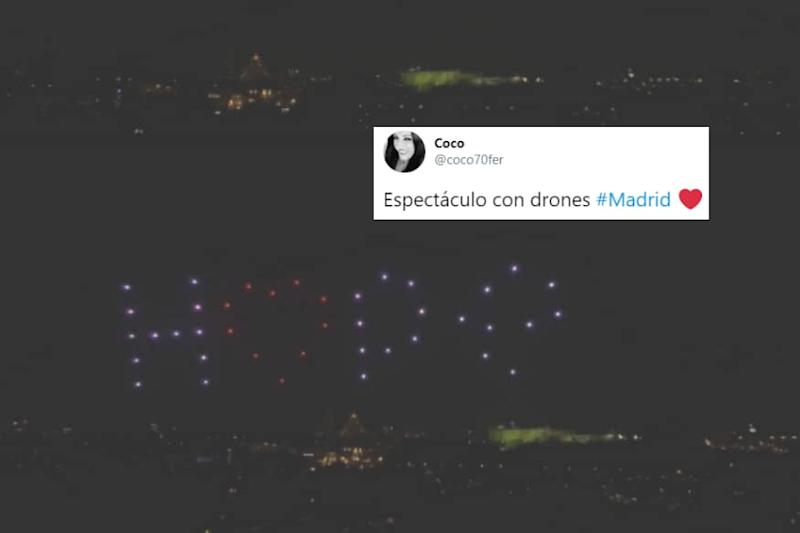 'Thank You': Drones Light up Madrid Sky to Pay Tribute to Covid-19 Victims