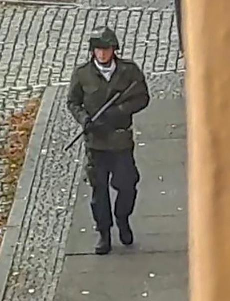 A screenshot from a video by ATV-Studio Halle. Witnesses said a synagogue was among the gunmen's targets as Jewish worshippers marking the holy day of Yom Kippur (AFP Photo/Andreas Splett)