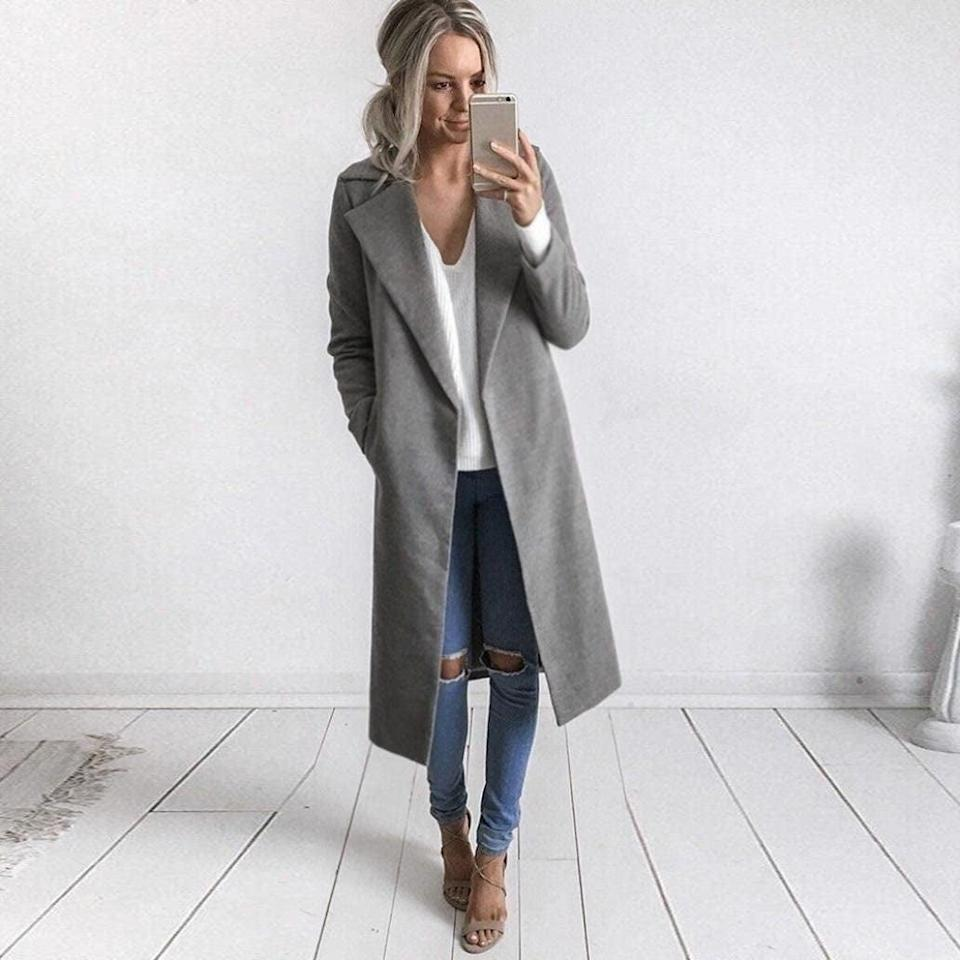 <p>You can wear this <span>Grefer Overcoat</span> ($24) every day. </p>