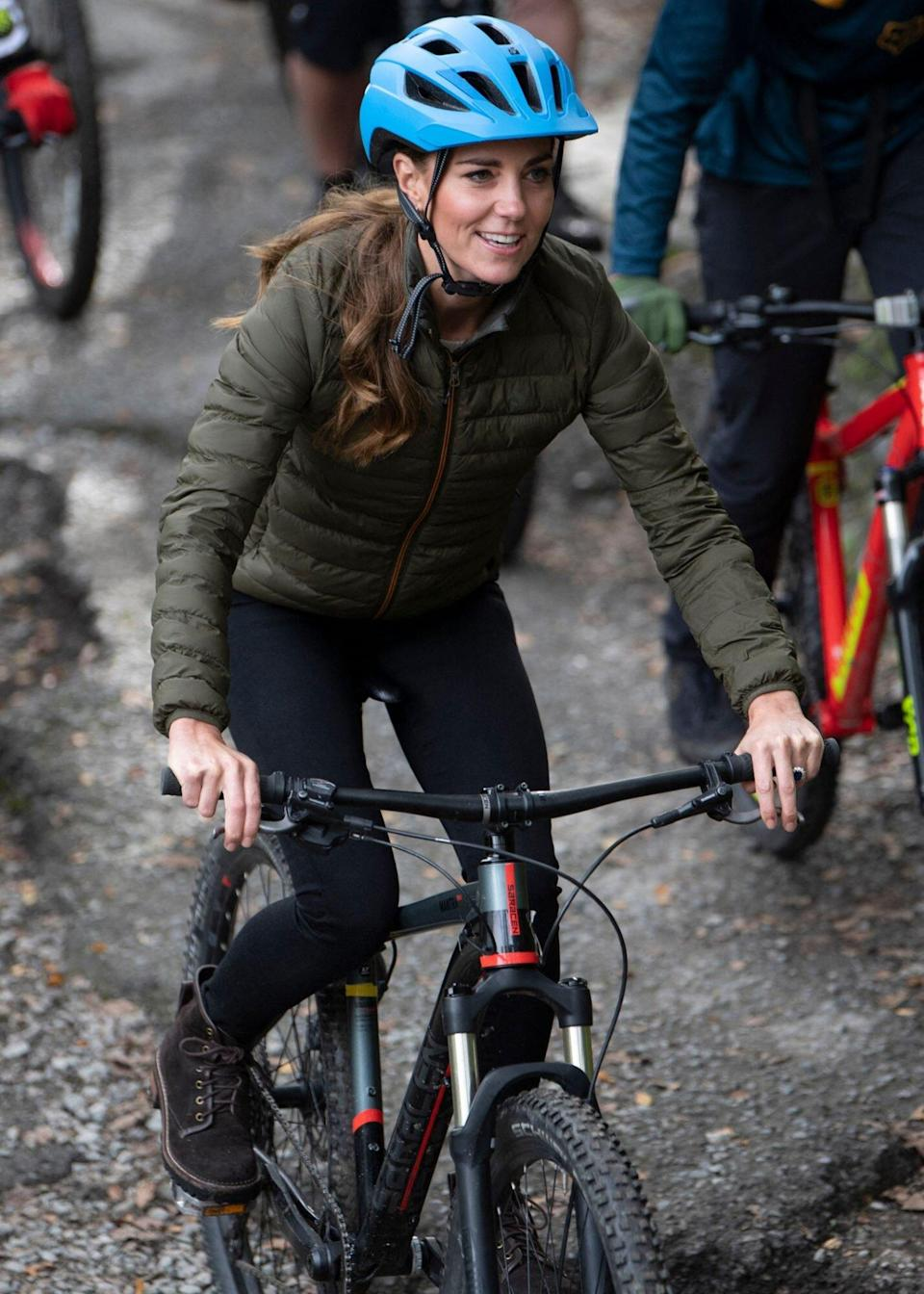 Catherine, Duchess of Cambridge visits the Windermere Adventure Training Centre with RAF Cadets