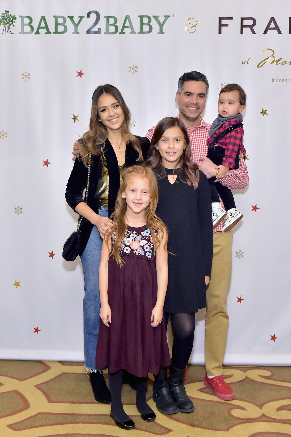 "<p>It can be different for everyone, but for Jessica that means having plenty of family time. 'You know, spending time with my kids kind of does take all the stress away, weirdly,' she told <a href=""https://www.womenshealthmag.com/life/a19939060/jessica-alba-q-and-a/"" rel=""nofollow noopener"" target=""_blank"" data-ylk=""slk:WomensHealthMag.com"" class=""link rapid-noclick-resp"">WomensHealthMag.com</a>. 'I'm in the moment with them. They make me so happy, they're pure joy. I know they're not going to be little forever, so I really soak up as much as I possibly can with them. That's kind of how I de-stress.'<br></p>"