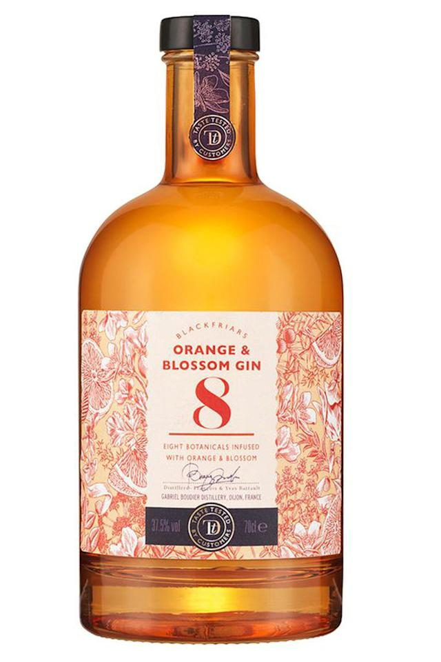 <p>To celebrate the supermarket's 150th birthday, Sainsbury's is adding a new flavour variant to its Taste the Difference Blackfriars Gin collection: Orange & Blossom Gin. It's infused with eight aromatic botanicals to give a flavourful taste of zesty orange, blossom and thyme. </p><p><em>Taste the Difference Blackfriars Orange & Blossom Gin, £16.00, Sainsbury's</em></p>