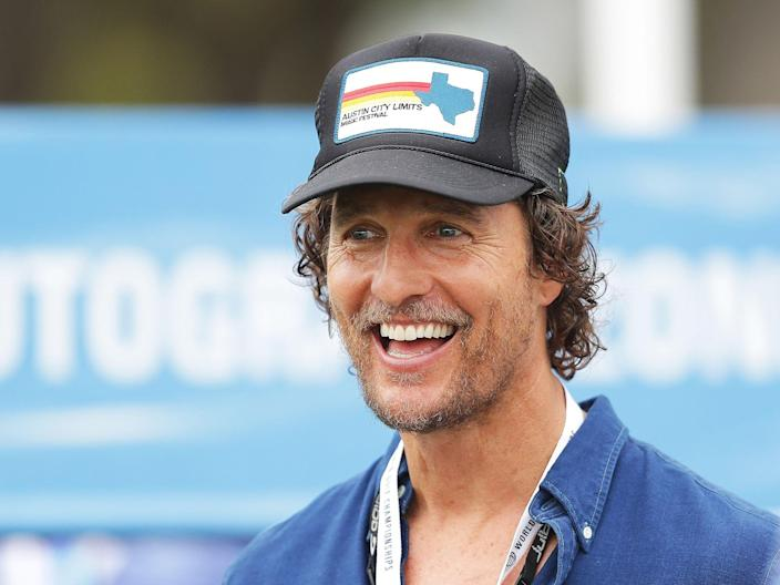 <p>File image: Matthew McConaughey attends the final round of the World Golf Championships</p> (Getty Images)